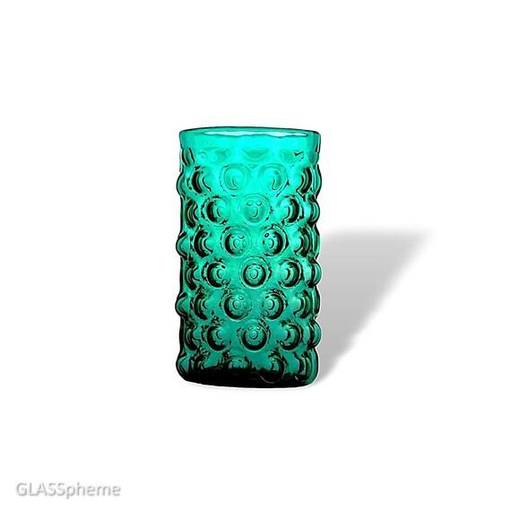 """BLENKO Wayne Husted #6041 Glass """"Bubble Wrap"""" Vase in DREAMY Sea Green"""
