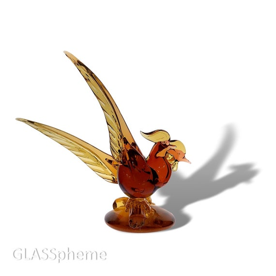 Mid-Century Archimede SEGUSO Murano Glass Love Birds Sculpture--With Label