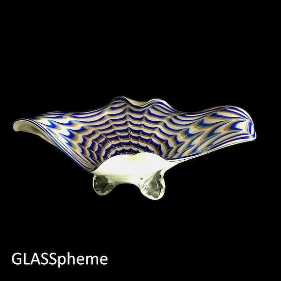 MASSIVE Mid-Century Mod MURANO Biomorphic Glass Centerpiece