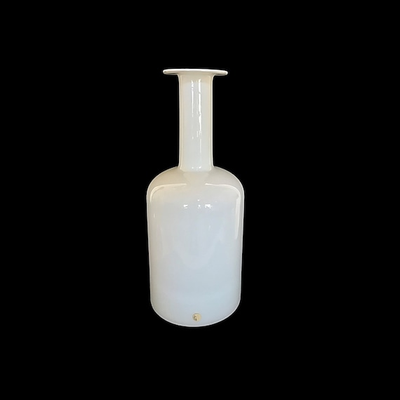 "Massive 20"" Holmegaard GULVASE Cased Glass Bottle/Decanter in White"