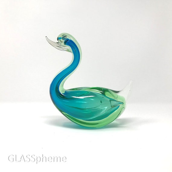 SUBLIME 20th Century MURANO Cased | SOMMERSO | Submerged Glass Duck Sculpture