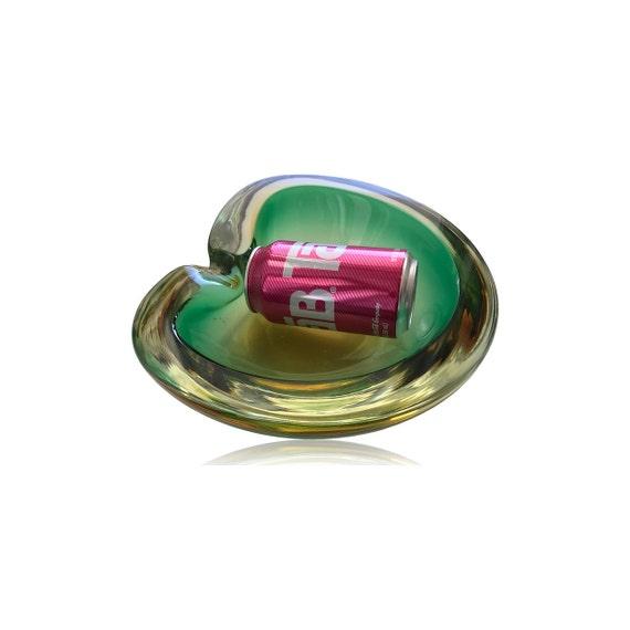 MIRACULOUS MASSIVE MCM Biomorphic Murano Sommerso Cased Glass Bowl/Dish/Ashtray