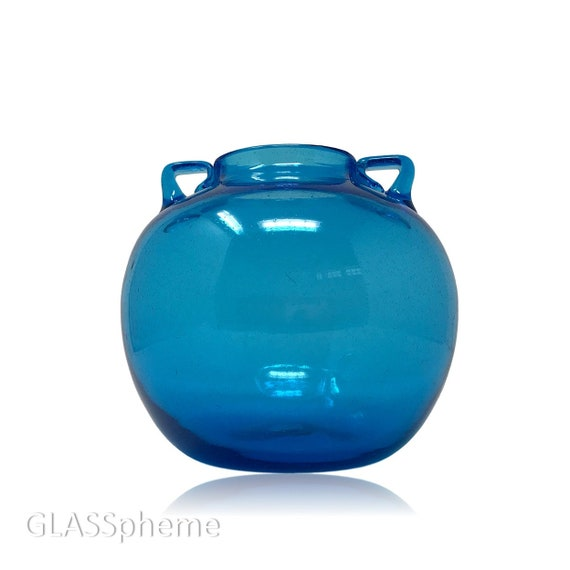 C.1930s BLENKO #375 Murano Soffiato Style Glass Vase, Predesigner Gem in Minty Condition