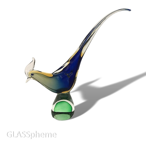 "LARGE 17"" Mid-Century Modern MURANO Sommerso 