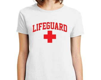 LIFEGUARD Baywatch Safety shirt Mens Womens Kids sizes Safety Tees