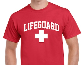 LIFEGUARD Baywatch Safety shirt Mens Womens Kids sizes Staff Tees