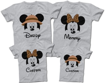 d9275d6a57862 Mickey and Minnie Animal Kingdom Theme T-Shirts | Mommy Daddy and Kids! |  Custom Disney T-Shirts | 2018 Disney World Custom T-Shirts
