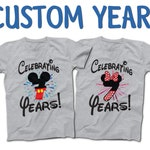 Disney Couples Anniversary T-Shirts   2018 Anniversary Shirt   Personalized Number and Text   Disney World Family Vacation   Together Since
