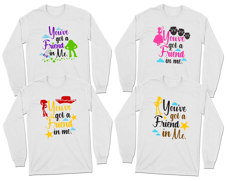 fc09472df You've got a Friend in me Long Sleeve T-Shirts Toy Story   Etsy