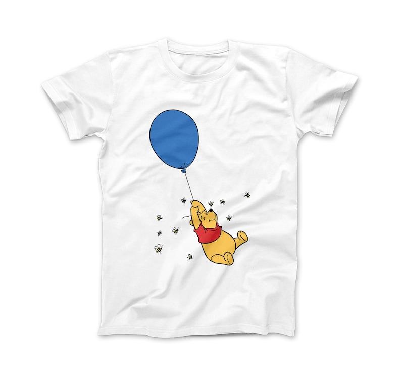 95de4ed4 Winnie the Pooh Balloon T-Shirt Disney Pooh T-Shirt Cute | Etsy