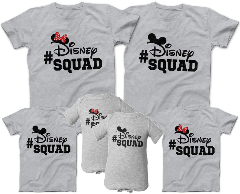 799fd04a4 Disney SQUAD Family Group T-Shirts Mickey Mouse SQUAD | Etsy