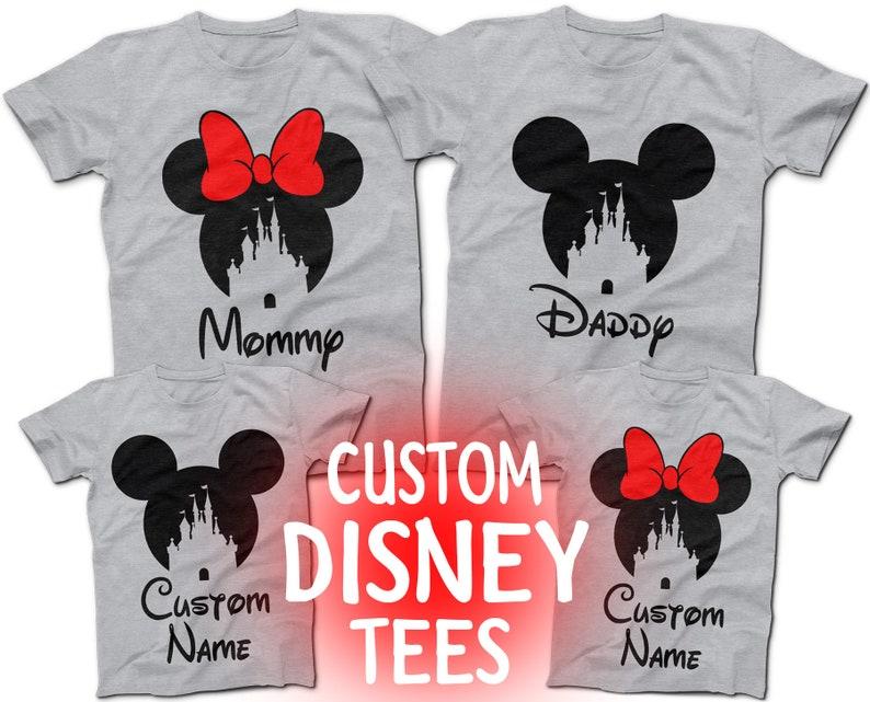 71e1535f Mickey and Minnie Castle CUSTOM Disney T-Shirts Disney | Etsy