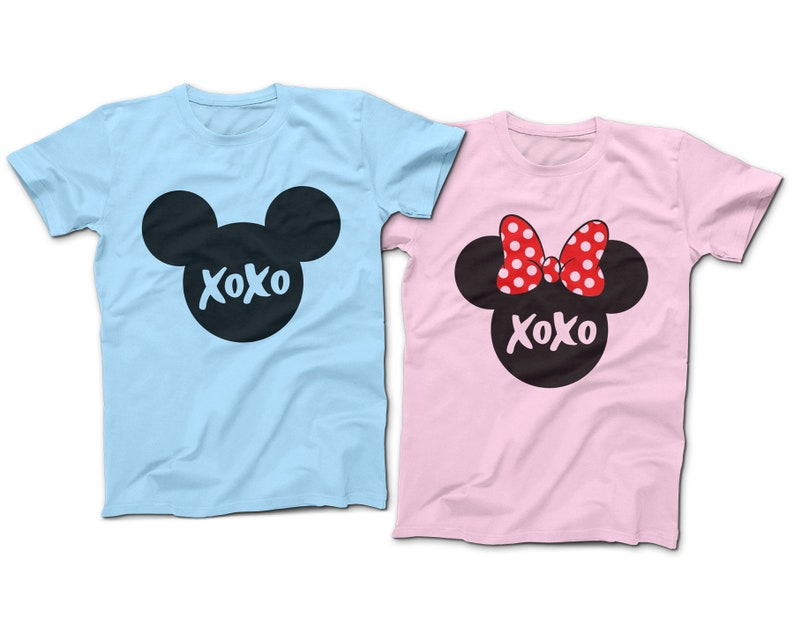 ade53ff33 XOXO Mickey Minnie Mouse T-Shirts Disney Couples Shirts | Etsy
