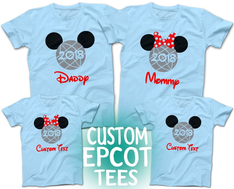 d0d862594 Disney World Epcot CUSTOM Family T-Shirts Mickey and Minnie   Etsy