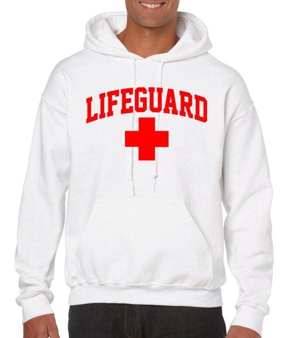 selección premium último estilo precio oficial SALVAVIDAS Baywatch seguridad con capucha Sudadera para hombre niños tallas  camisas personal