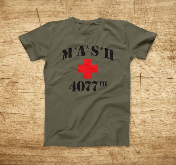 42b3184e MASH 4077th Vintage T-Shirt MASH Classic American TV Series | Etsy