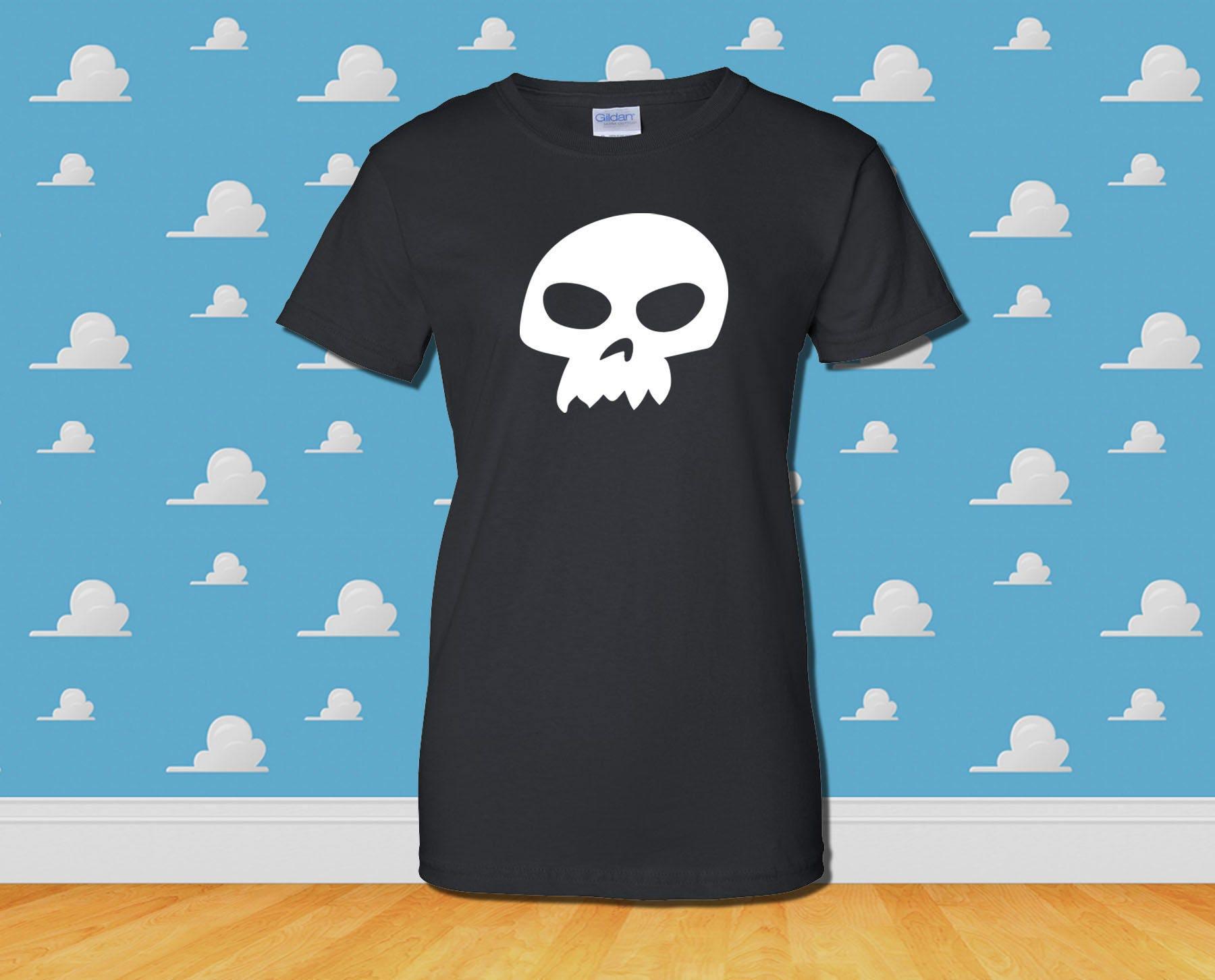 6ba697c38e4e52 SID SKULL T-Shirt Disney Toy Story Inspired Tee Mens Womens   Etsy