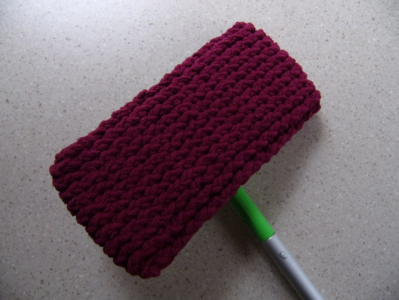 reusable wet mop pad, soft mop and dust mop cover, washable mop cover, eco  friendly mop cover, loom knitted mop cover, soft mop pad, gifting