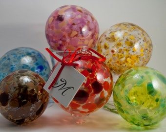 Ball of Light - mouth blown glass hanging ornament