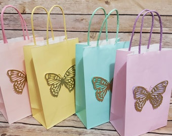 Butterfly Girls Bag Birthday Favor Bags Kids Totes Birthday Girls Gifts Butterfly Children/'s bags Personalized Butterfly Kids Tote Bag