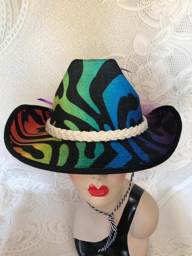 2c6942171 Fun Rainbow Pride Cowboy Hats