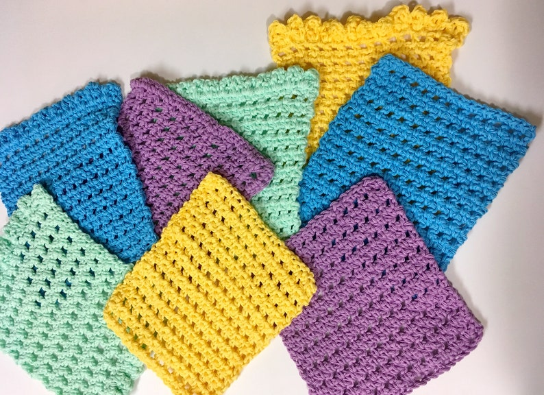 Simple Cute And Quick Crochet Washcloth Pattern Etsy