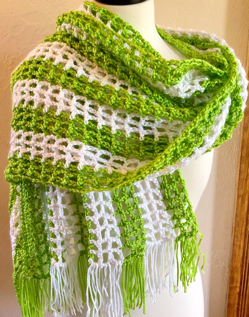 Crochet Open Weave Summer Shawl