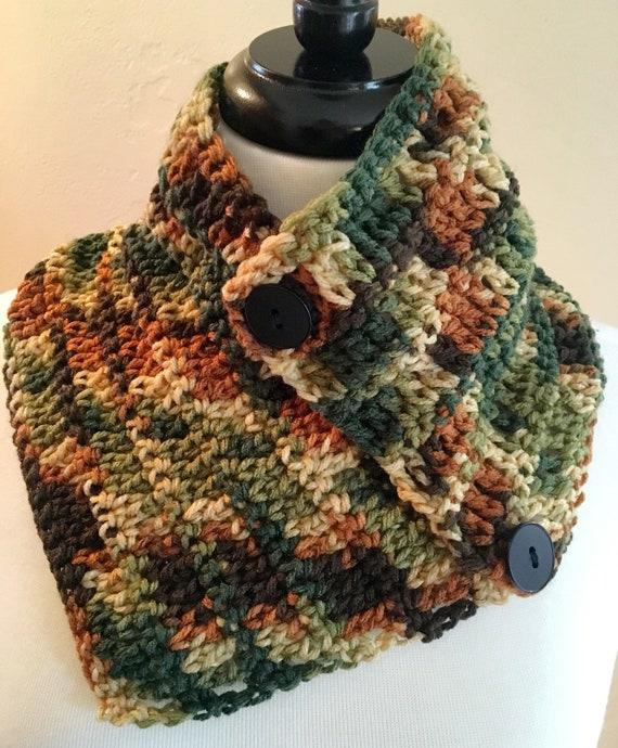 Camouflage Neck Warmer Crochet Pattern Etsy