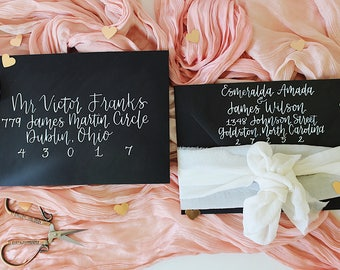 """Wedding Envelope Addressing """"Beau"""" Style, Wedding Calligraphy, Event Calligraphy, Envelope Calligraphy, Event Calligraphy"""