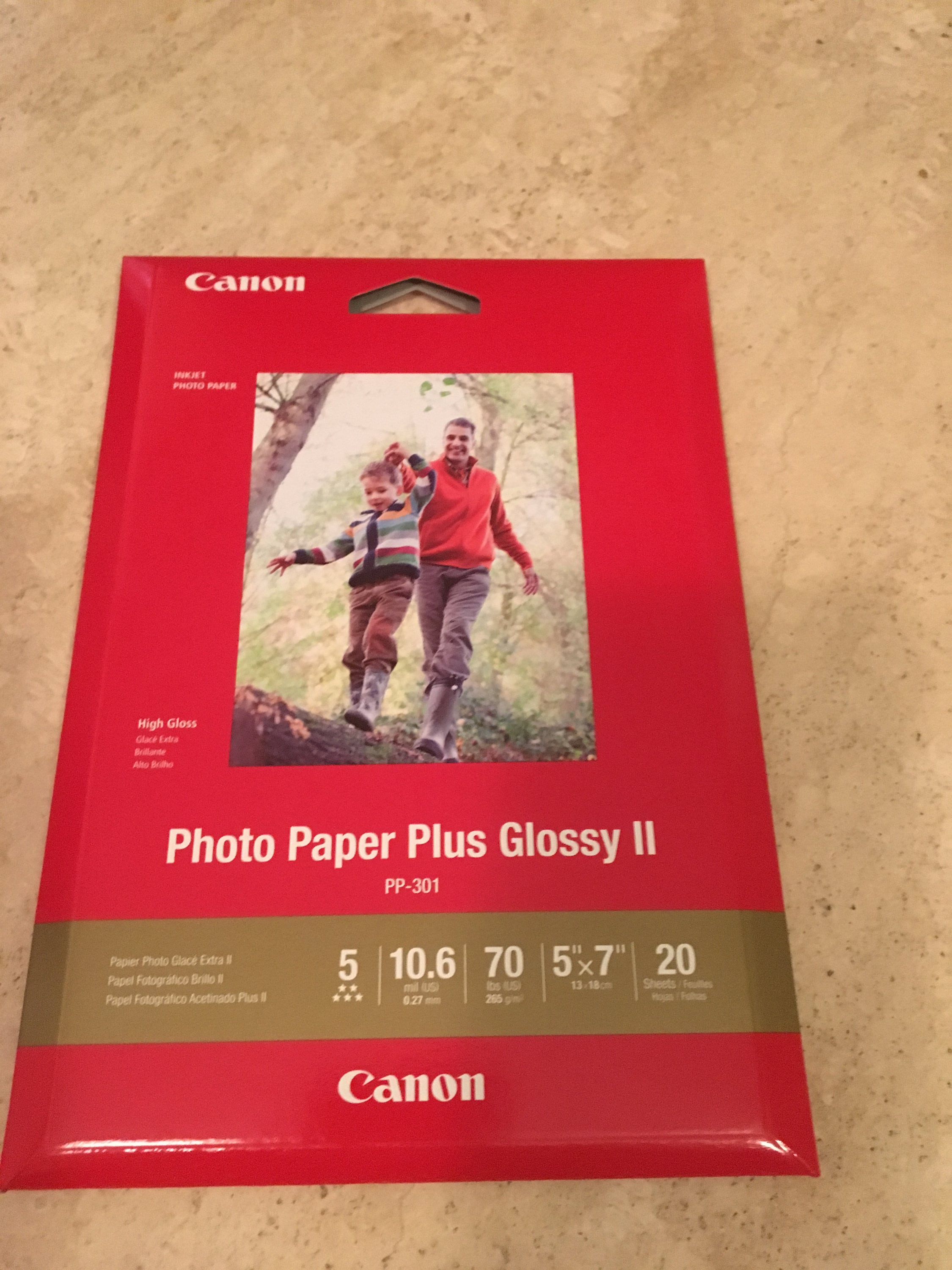 Canon 5 X 7 Photo Paper Glossy Ii 20 Sheets Etsy