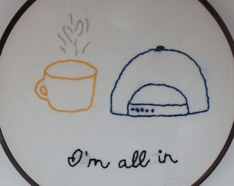 Gilmore Girls Wall Decor | Embroidered Gilmore Girls Hoop | Lorelai Gilmore | Fan Gift | Lukes Coffee | Embroidery Hoop | Lukes Diner