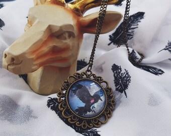 The Raven Boys Inspired Antique Bronze Pendant