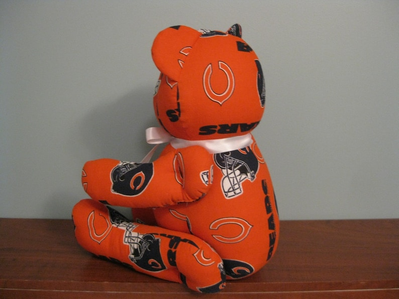 0583564812e Chicago Bears Bear orange nfl bear stuffed bear football