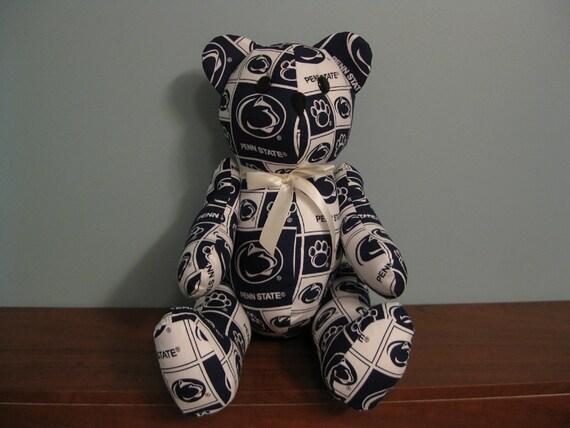 Penn State Nittany Lions Ncaa Bear Stuffed Bear College Football Bear Handmade Bear Custom Bear Ncaa Teddy Bear