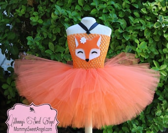 Fall Fox Tutu Outfit with Matching Headband Customize Wording Fall Birthday Fox Outfit Add Your Own Name or Phrase