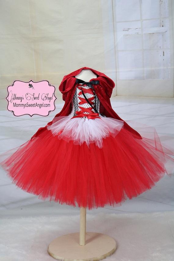 c5c55b127 Little red riding hood tutu dress. Red princess tutu dress.