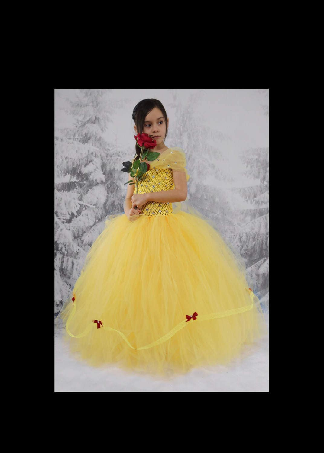 Beauty And The Beast Tutu Dress And Matching Hairpiece Etsy