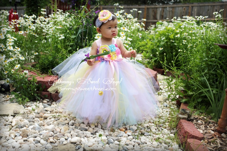 ebb1e743bb1bb Rainbow tutu dress. Pageant tutu dress. Flower girl tutu dress. Pastel  rainbow dress. Unicorn tutu dress. Flower girl dress. Birthday tutu