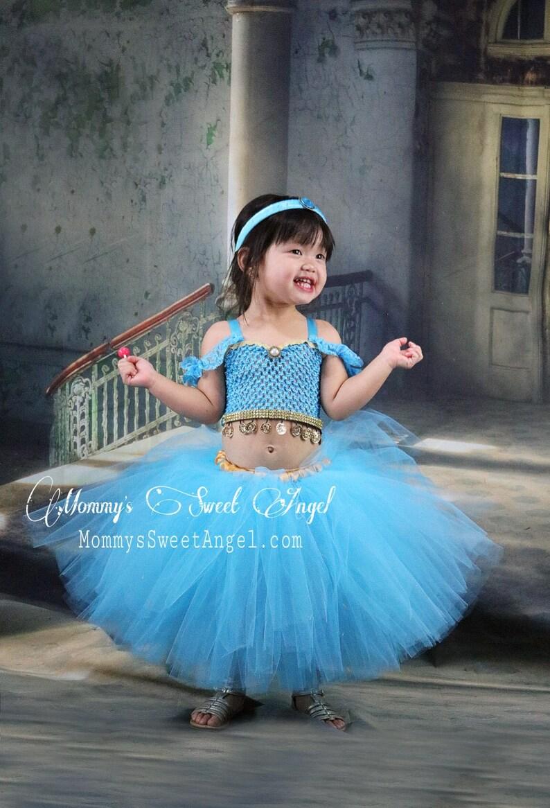 f3eca6091 Jasmine tutu dress comes w  matching bow. Aladdin tutu dress.