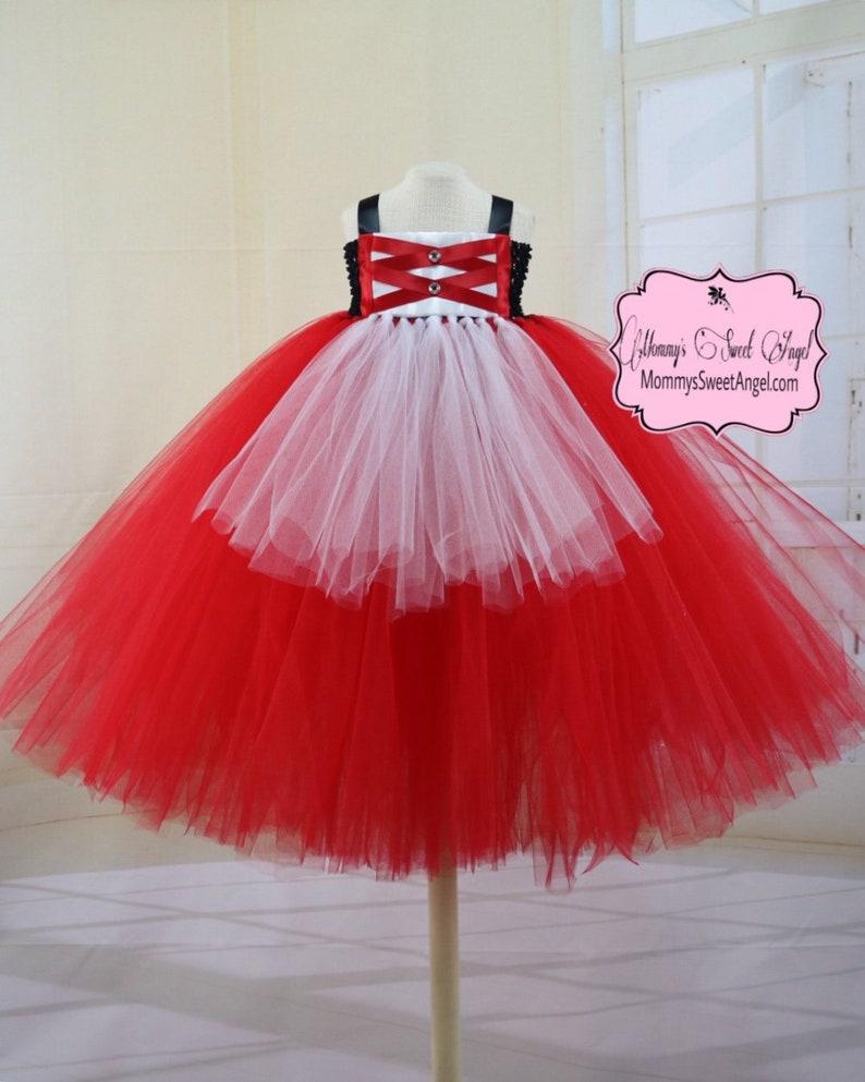 30649424f Little red riding hood tutu dress. Red princess tutu dress. Medieval baby  girl tutu dress. Birthday tutu dress. Big bad wolf tutu dress.