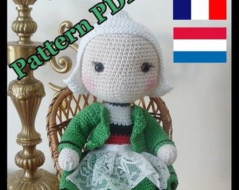 Crochet pattern Amigurumi doll snipe tutorial Pattern