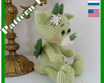 Crochet Pattern, pattern, tutorial, Amigurumi, Dino Nico