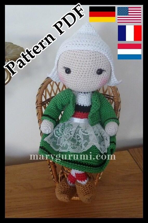 Crochet Pattern Patron Tutoriel Amigurumi Poupée Bécassine