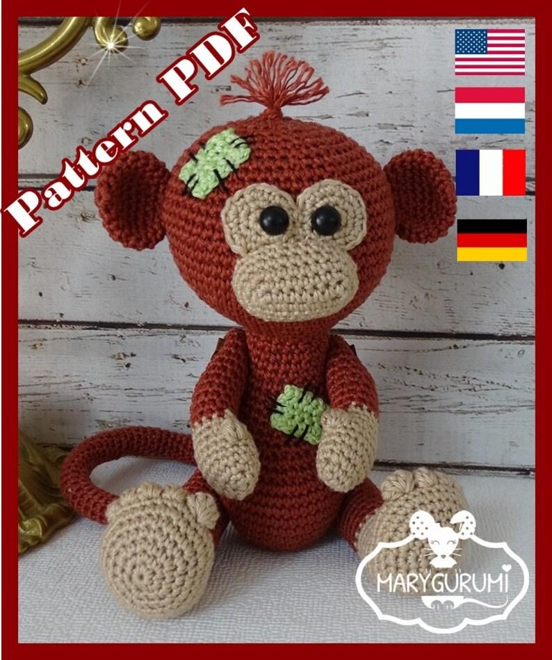 556779e4deb Crochet Pattern Patron Tutoriel Amigurumi Tong le Singe