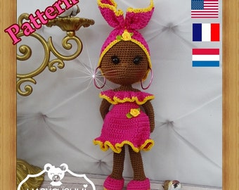 Crochet Pattern, pattern, tutorial, Amigurumi doll
