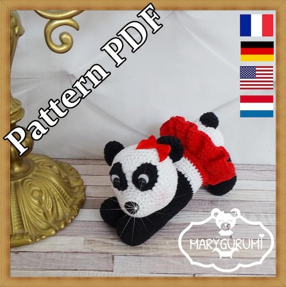 Crochet Pattern Patron Tutoriel Amigurumi Panda