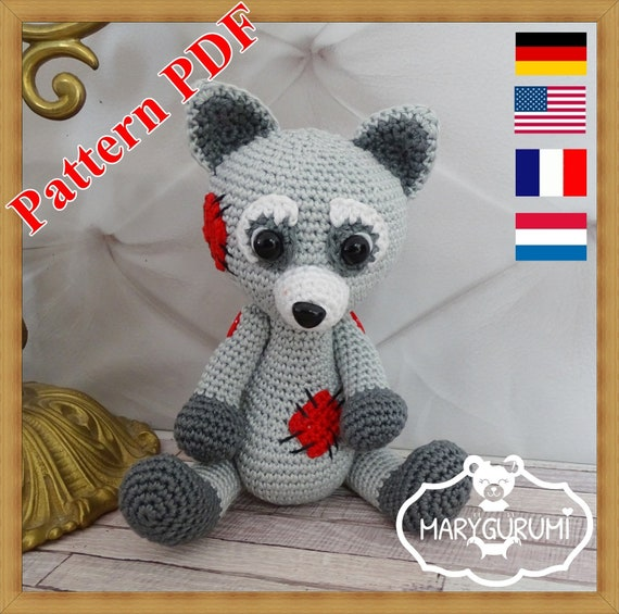 Crochet Pattern Patron Tutoriel Amigurumi Raton Laveur