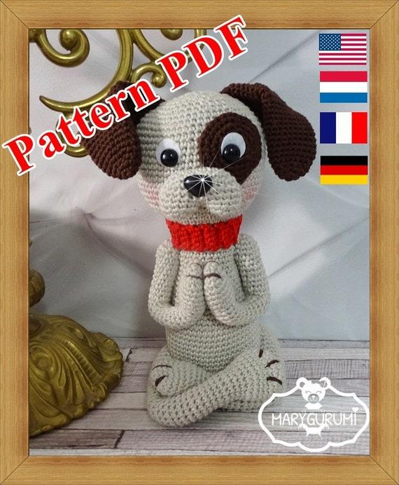 Crochet Pattern Patron Tutoriel Amigurumi Le Chien Kro