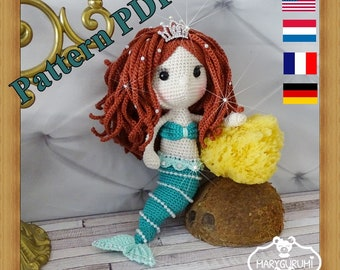 Crochet Pattern, pattern, tutorial, Amigurumi doll, Mermaid