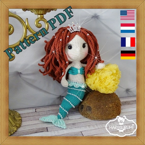 Crochet Pattern Patron Tutoriel Amigurumi Poupée Sirène